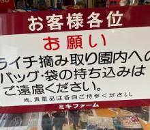 ライチ摘み取り園サイン(新富町)