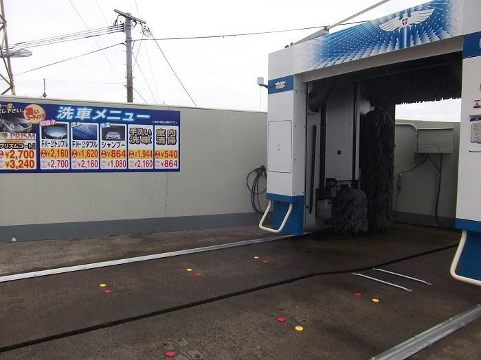 洗車メニューサイン(林田石油・高鍋町)